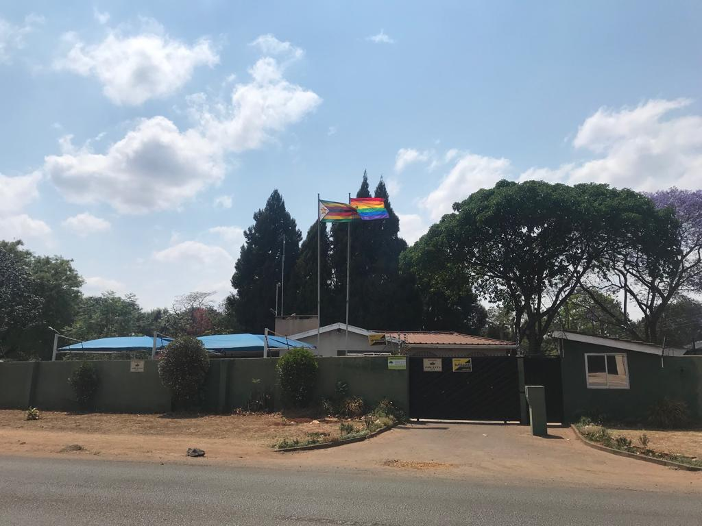 Pride flag in Zimbabwe